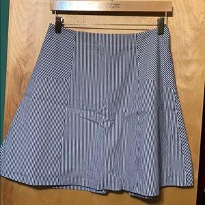 NWOT LOFT seersucker skirt {lined}